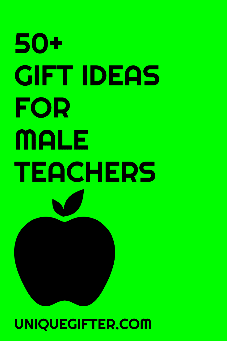 Men can be hard to shop for! Here are 50 male teacher gifts to inspire, there are definitely ideas in here to pin for later, I won't be stumped again. I love my kid's teacher who is a man, but I struggle to come up with gift ideas for Christmas and the end of the year. Consider that problem solved.