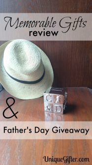 Memorable Gifts Review and Father's Day Giveaway
