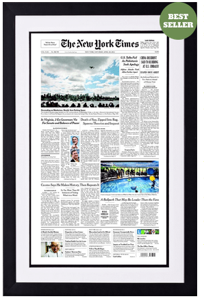 NYT Front Page - A great paper anniversary gift idea