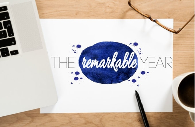 The Remarkable Year planner great for a first year wedding anniversary gift