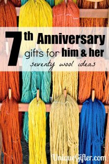 70+ Wool 7th Anniversary Gifts – For Him and Her