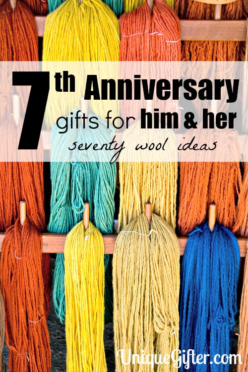 70 Wool 7th Anniversary Gifts For Him And Her