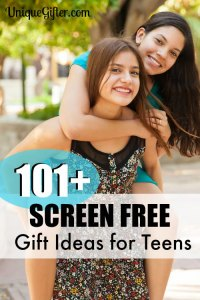 101 Screen Free Gifts for Teens - Finally some ideas that don't involve another video game! I am using this for everybody this year!!
