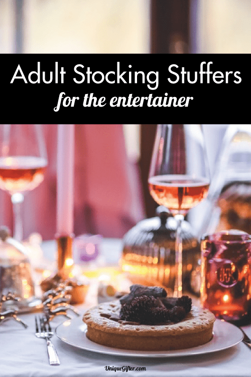 Adult Stocking Stuffer Ideas for the Entertainer in your life. I want all of these things!