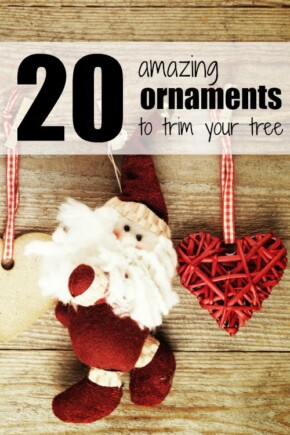 An adorable collection of ornaments to trim your tree. I love home decor for Christmas!