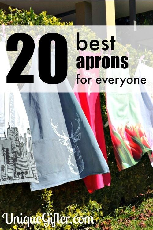 Love this selection of aprons, they would make perfect gifts! I want #3