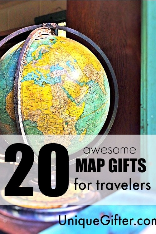 20 Awesome Map Gifts for Travelers Unique Gifter – World Map Gifts For Travelers