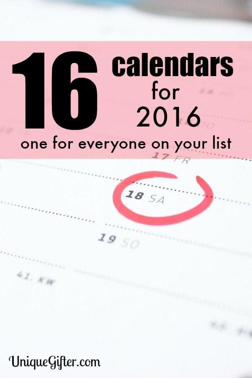 16 Calendars for 2016