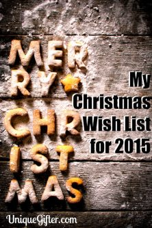 My Christmas Wishlist for 2015