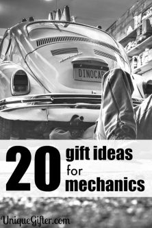 These are great gift ideas for mechanics. I love having ideas on hand for birthdays.