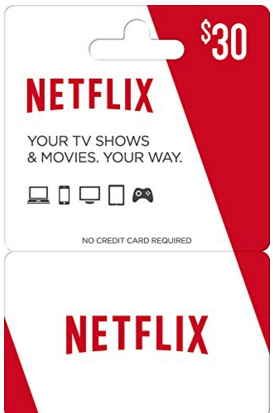 Netflix gift cards make great push presents for new parents