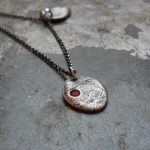 Baby fingerprint necklace unique push present