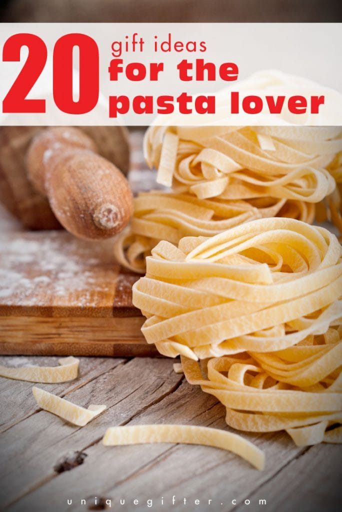 Gift basket ideas for the pasta lover or the pastafarian in your life. These look delicious!