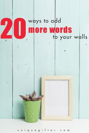 Want some inspo in the morning? Add words to your walls with one of these great home decor pieces.