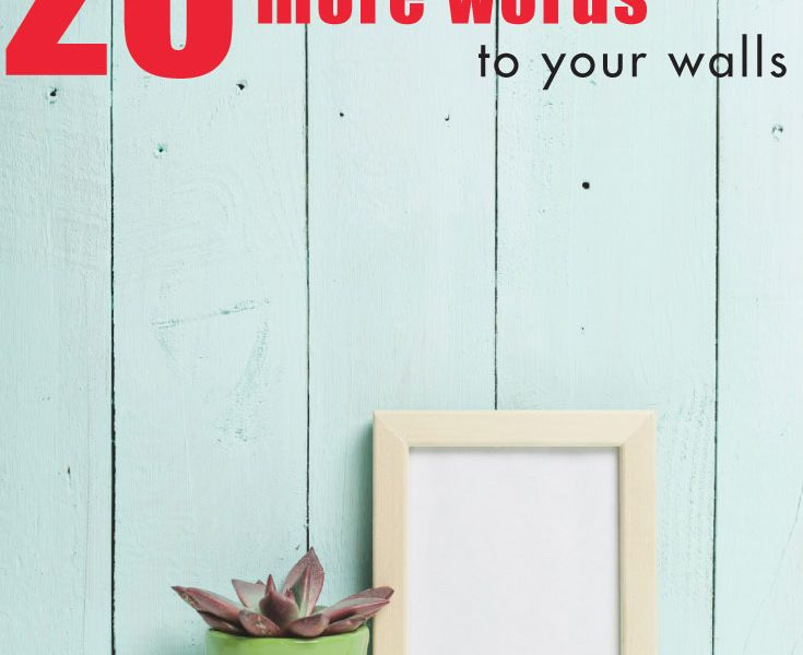 20 Ways to Add More Words to Your Walls
