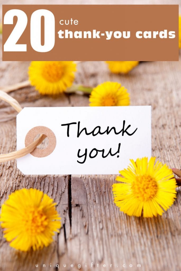 20 thank you cards
