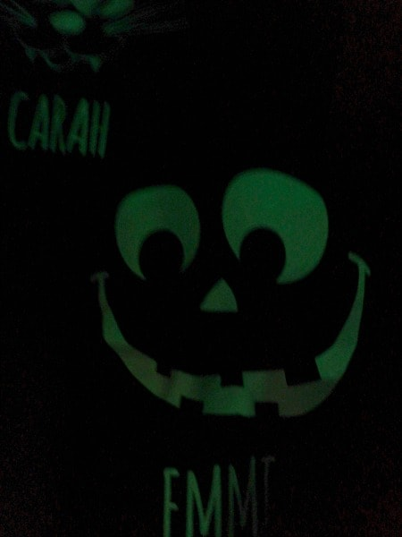 Glow in the Dark Halloween Bags with Custom Names