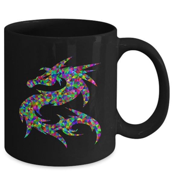 Dragon mug as a gift with the letter D