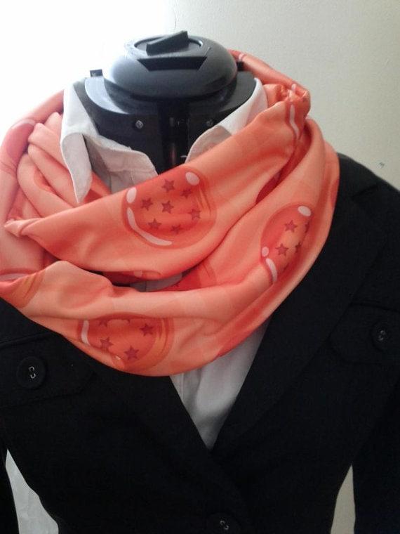 Infinity scarf dragon ball pattern design fashion gift