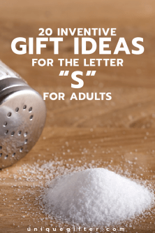 "20 Gifts for the Letter ""S"" for Adults"