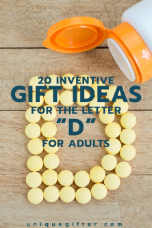 "20 Gifts for the Letter ""D"" for Adults"