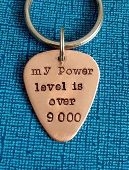 power level meme printed necklace custom made gift idea