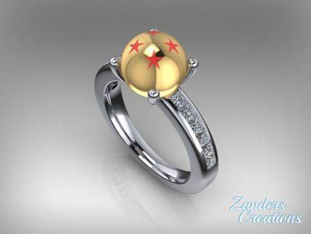 Dragonball Z engagment ring gift idea