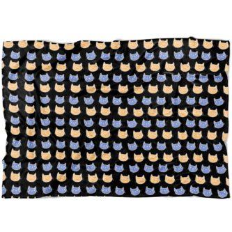 Cat pattern fleece blanket unique gift ideas for veterinary technicians
