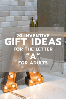 "20 Gifts for the Letter ""A"" for Adults"