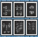 lego blueprint poster set for lego lovers