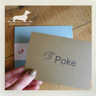 Facebook poke card for internet friends