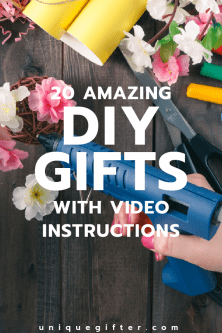 20 Amazing DIY Gifts with Video Instructions