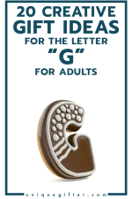 20 Creative Gift Ideas for the Letter G for Adults