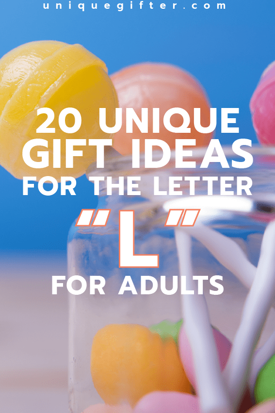Attending a letter themed party? Maybe you're setting up an epic scavenger hunt? Try these gift ideas for the letter L for adults on for
