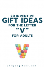 20 Inventive Gift Ideas for the Letter V for Adults