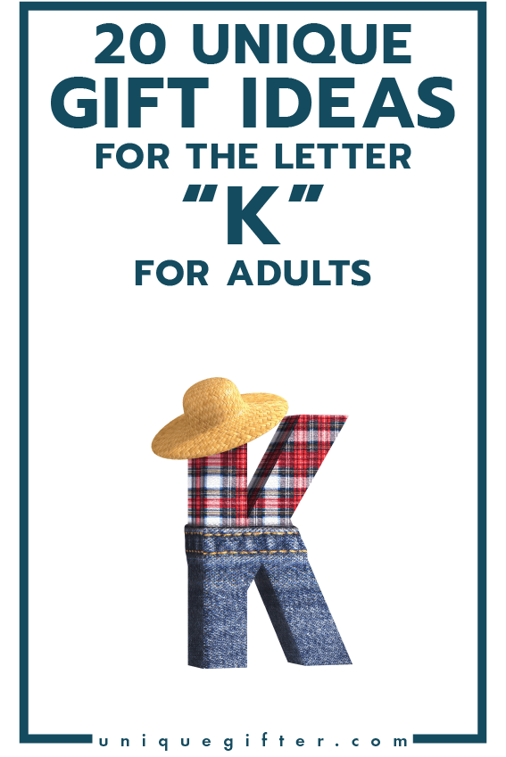20 Gift Ideas for the Letter K for Adults