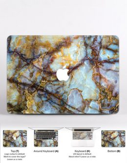 gift ideas for a Gemini woman - Marble laptop skin