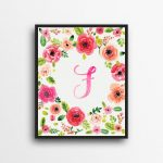 Beautiful framed monogrammed unique Gift Ideas for the Letter F