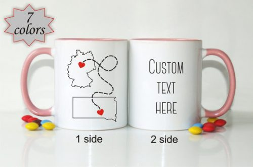 Long distance mugs make a great gift for internet or long distance friends