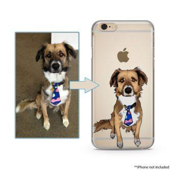 Custom Illustrated Dog IPhone Case