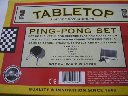 Ping pong set Gift Ideas for the Letter P