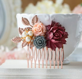 Rose Gold hair comb perfect gift ideas for your wife's 50th birthday