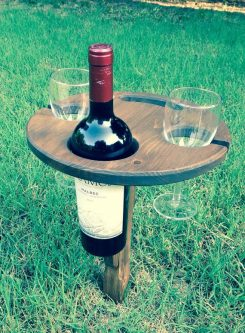 Folding outdoor wine table gift ideas for your wife's 50th birthday