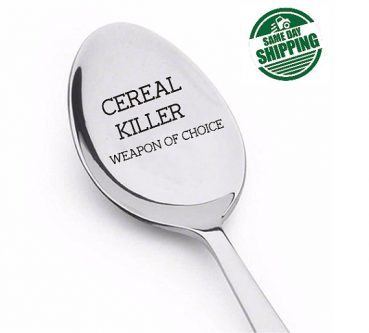 Funny cereal killer spoon gift idea for your wife's 50th birthday