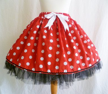 Fun polka dot skirt youthful gift ideas for your wife's 50th birthday
