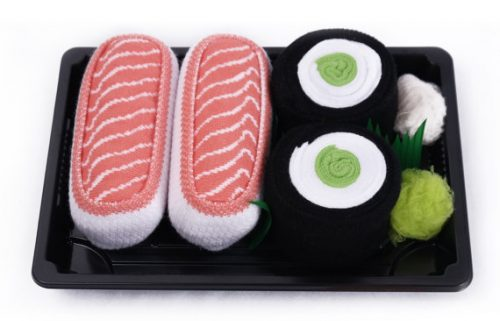 Fun gift ideas for your wife's 50th birthday - sushi socks