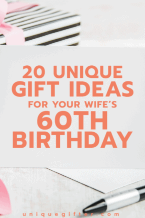 Gift ideas for your wife's 60th birthday | Milestone Birthday Ideas | Gift Guide for Wife | Sixtieth Birthday Presents | Creative Gifts for Women