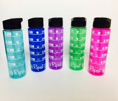 Practical Gift Ideas for the Letter H - hourly water bottle
