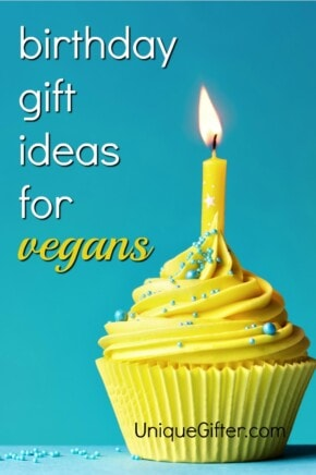 Trying to figure out how to say happy birthday to a vegan? One of these gifts is *exactly* what they want! | Birthday gifts for vegans | Present ideas for a vegan