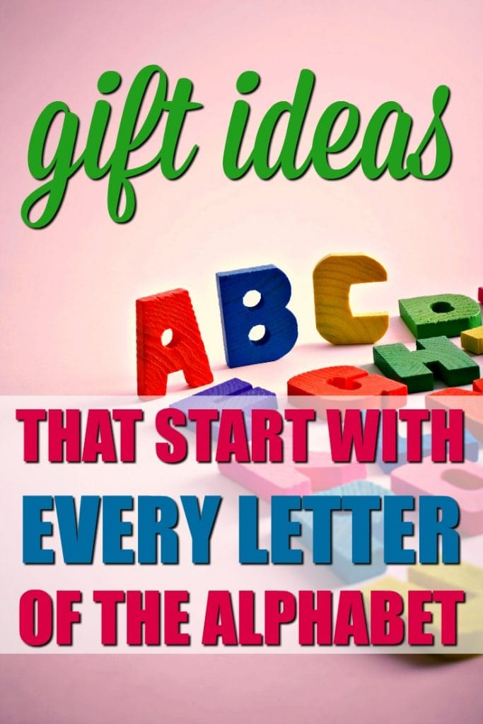 Gift Ideas that Start with Every Letter of the Alphabet   How to Host a Gift Exchange   Alphabet Theme Party Ideas   Secret Santa Tips   Family Gift Trade   Gifts that Start with the Letter   Scavenger Hunt Ideas
